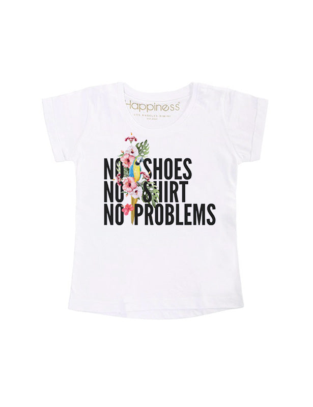T-Shirt Bambina - No Problems - Happiness Shop Online