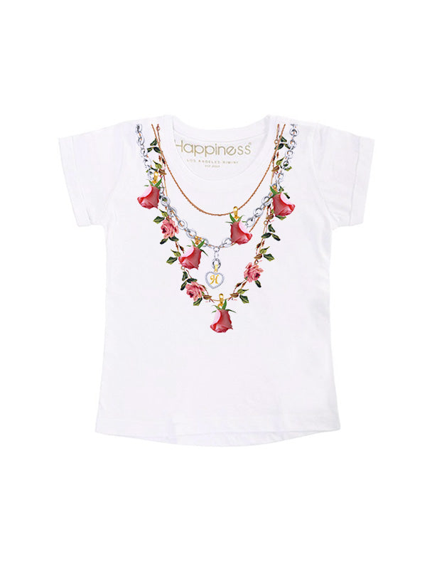 T-Shirt Bambina - Collana - Happiness Shop Online