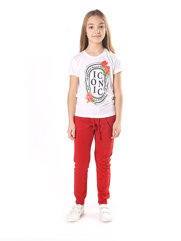 T-Shirt Bambina - Quadro Iconic Flowers - Happiness Shop Online