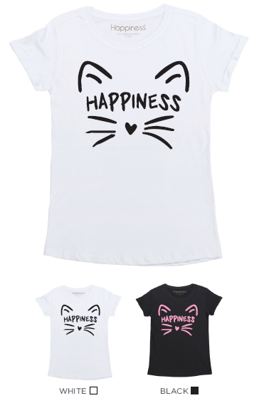 T-Shirt Bimba - Cat Happiness - Laminata - Happiness Shop Online