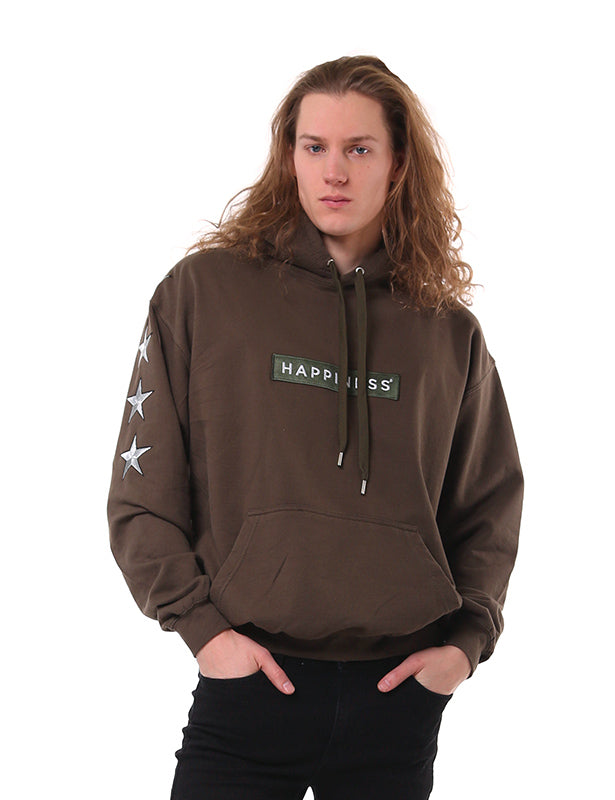 Hoodie Uomo - Patch Star - Happiness Shop Online