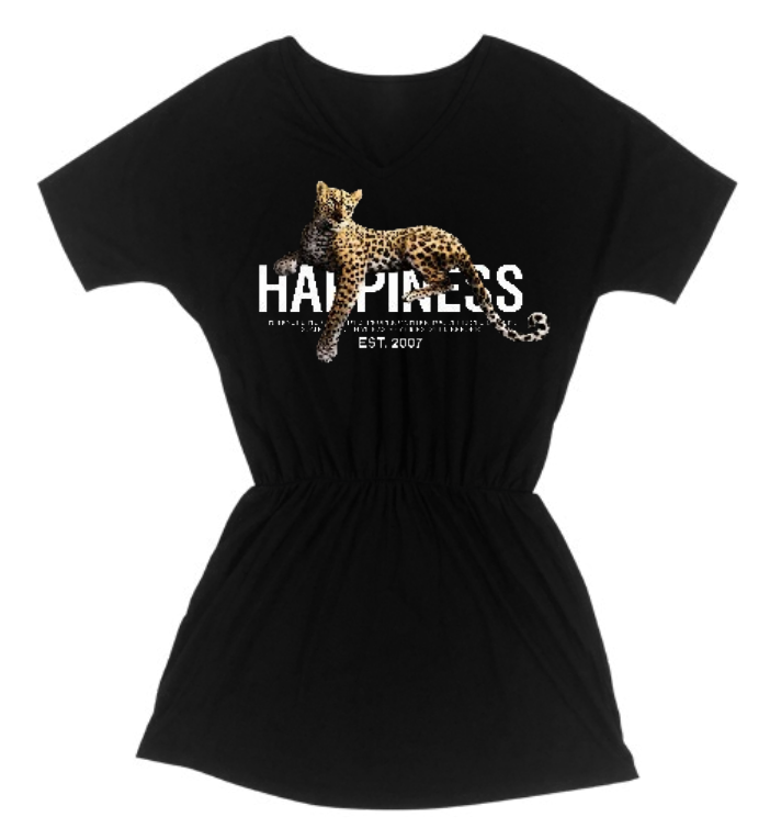 Abito Donna - Leopardo Happiness Strass - Happiness Shop Online