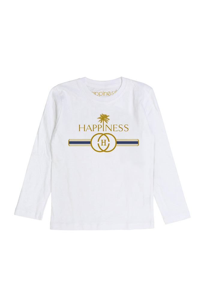 T-Shirt Long Sleeves Kids - Happiness Logo - Happiness Shop Online