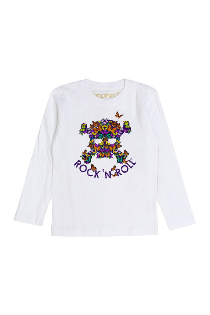 T-Shirt Long Sleeves Kids - Rock'n' Roll Butterfly - Happiness Shop Online