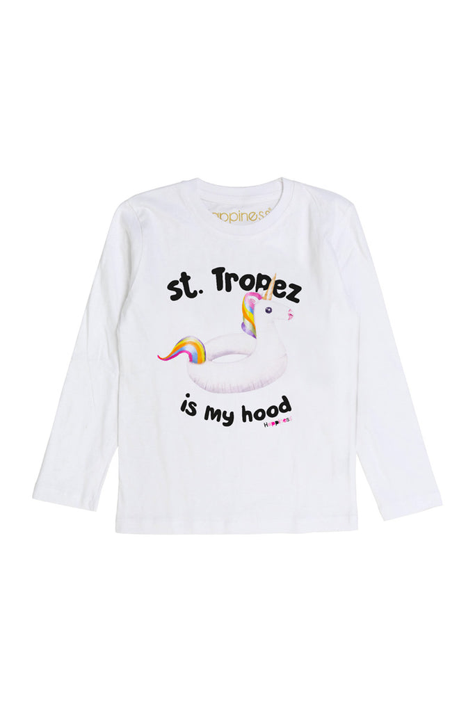 T-Shirt Long Sleeves Kids - St. Tropez Unicorn - Happiness Shop Online