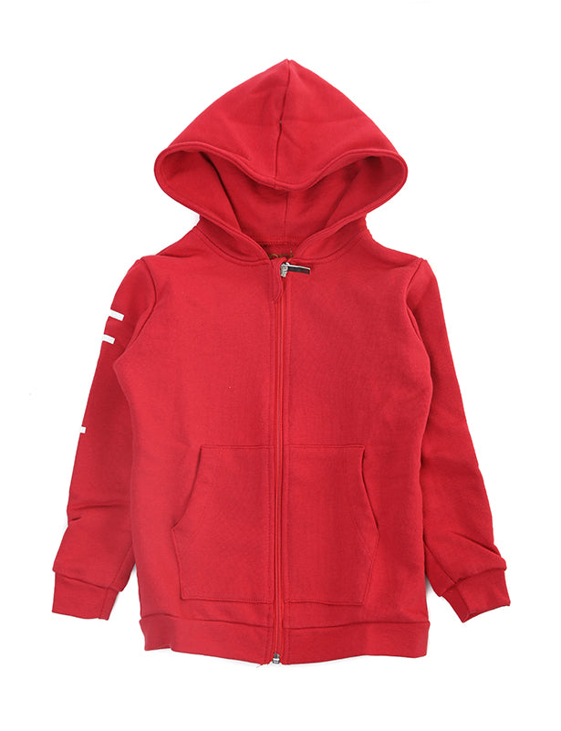 Felpa Zip Kids Rossa - Happiness Shop Online