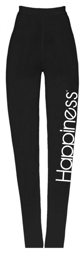 Leggings High Donna - Happiness Logo - Happiness Shop Online
