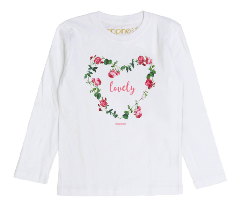 T-Shirt Long Sleeves Bambina - Lovely - Happiness Shop Online
