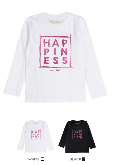 T-Shirt Long Sleeves Bimba - Happiness Est. 2007 - Strass & Perle - Happiness Shop Online
