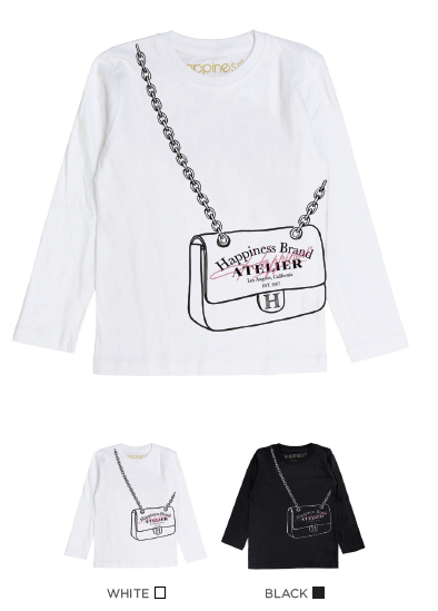 T-Shirt Long Sleeves Bimba - Happiness Atelier - Laminata - Happiness Shop Online