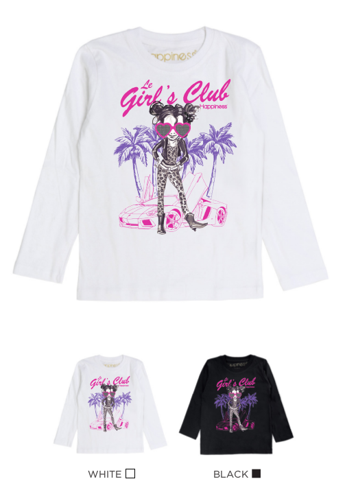 T-Shirt Long Sleeves Bimba - Le Girl's Club - Happiness Shop Online