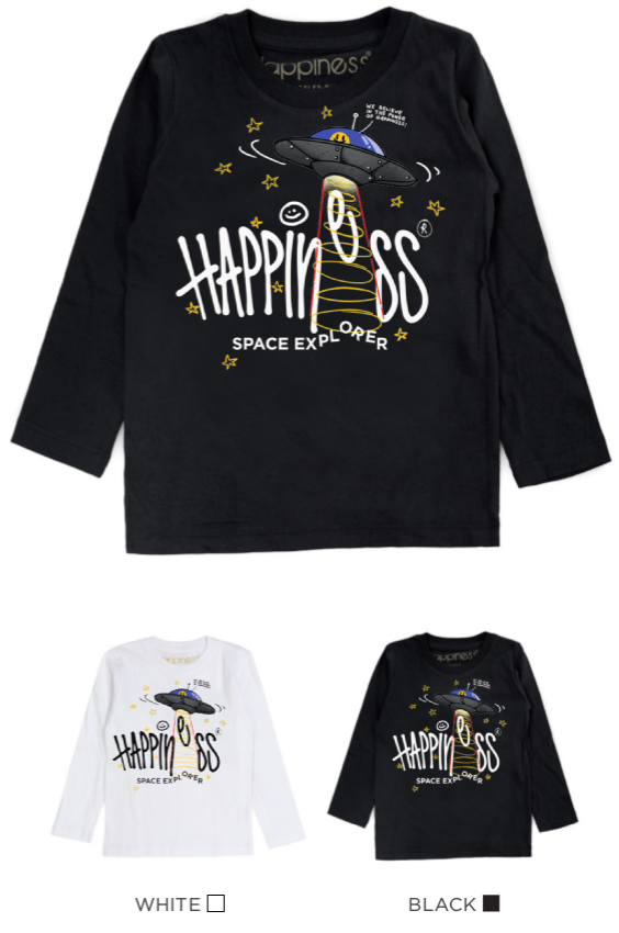 T-Shirt Long Sleeves Bimbo - Happiness Space Explorer - Happiness Shop Online