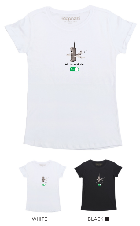 T-Shirt Donna - Airplane Mode - Happiness Shop Online