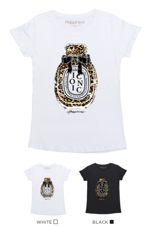 T-Shirt Donna - Leopard Iconic Perfume - Happiness Shop Online