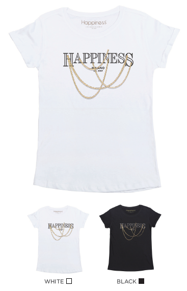 T-Shirt Donna - Catene Happiness - Happiness Shop Online