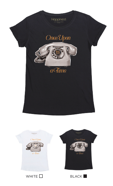 T-Shirt Donna - Once Upon A Time - Laminata - Happiness Shop Online