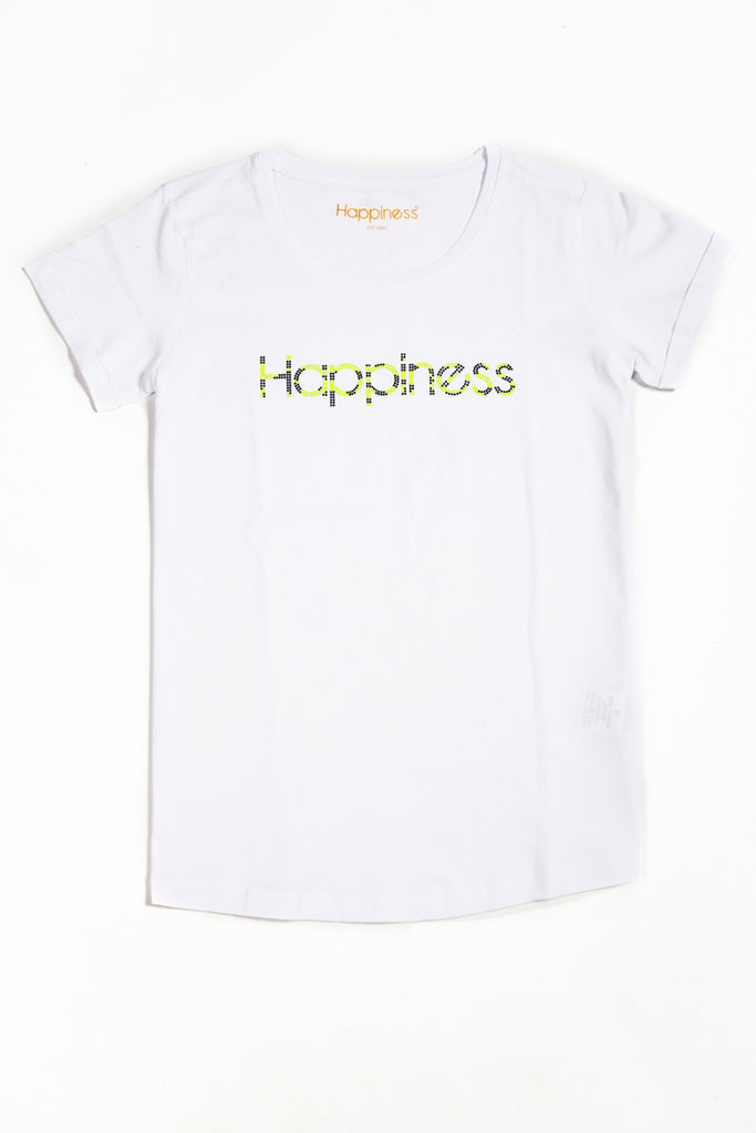 T-Shirt Donna - Leo Happiness Strass - Happiness Shop Online