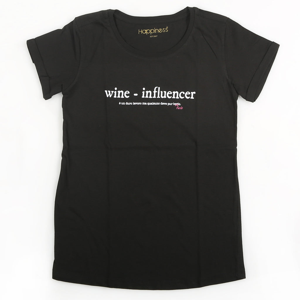 T-Shirt Donna - Wine-Influencer - Happiness Shop Online