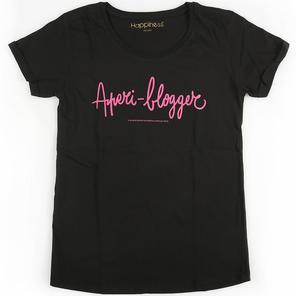 T-Shirt Donna - Aperi - Blogger - Happiness Shop Online
