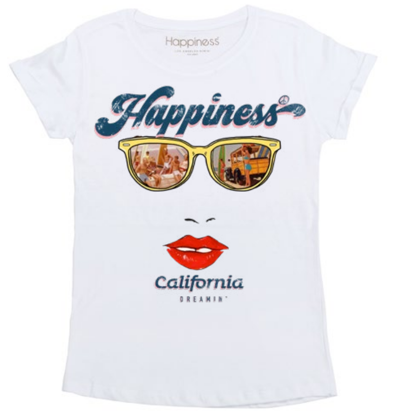 T-Shirt Donna - California Sunglasses - Happiness Shop Online
