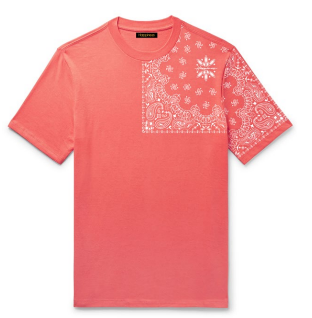 T-shirt Uomo - Bandana Print - Happiness Shop Online