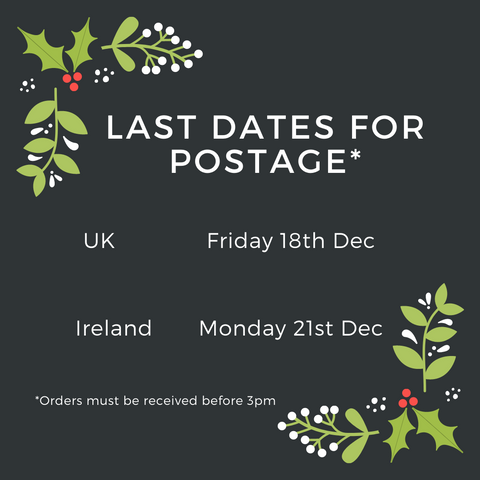 Last Dates for Postage