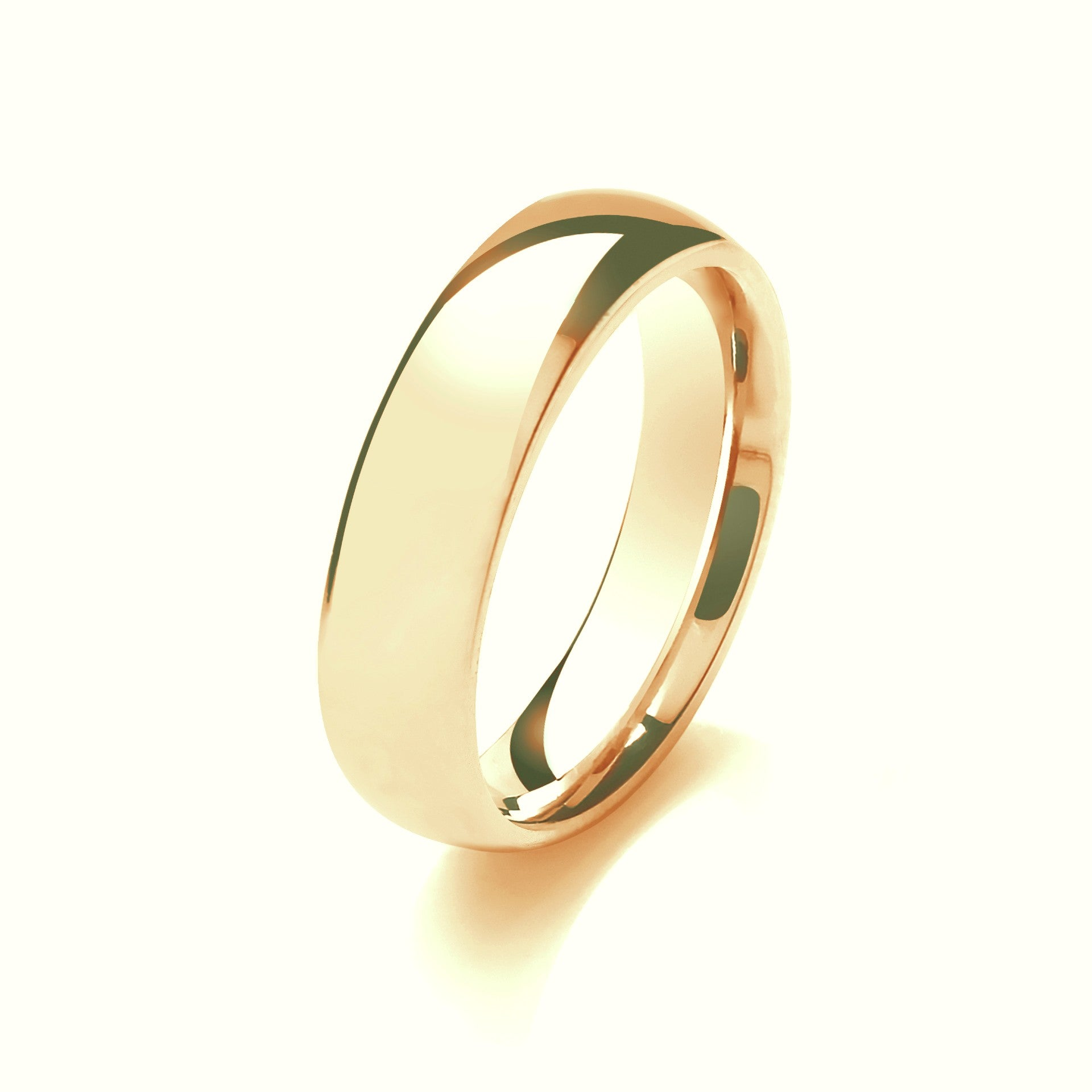 6mm Traditional Court Mens Wedding Ring - (Home Try-On)