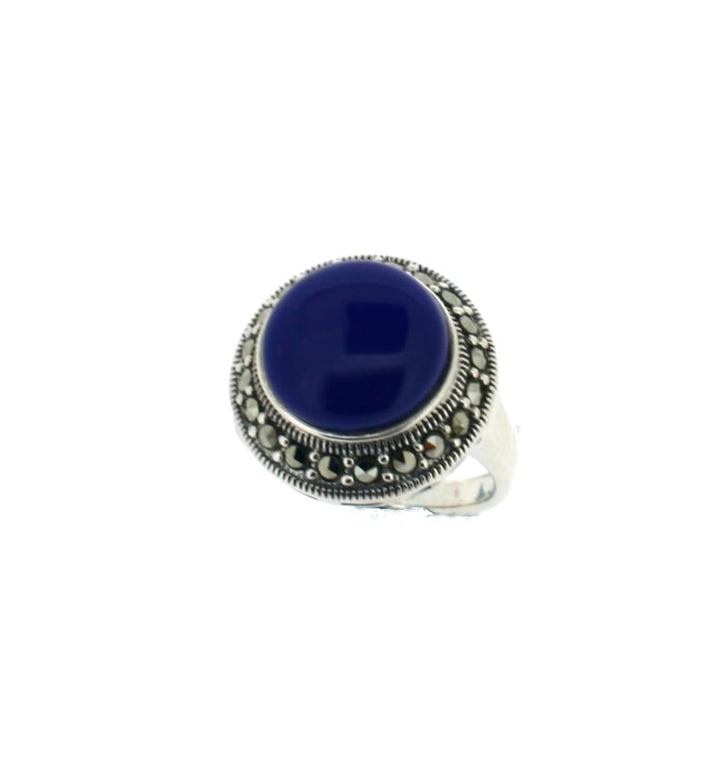 Blue Lapis Silver Ring