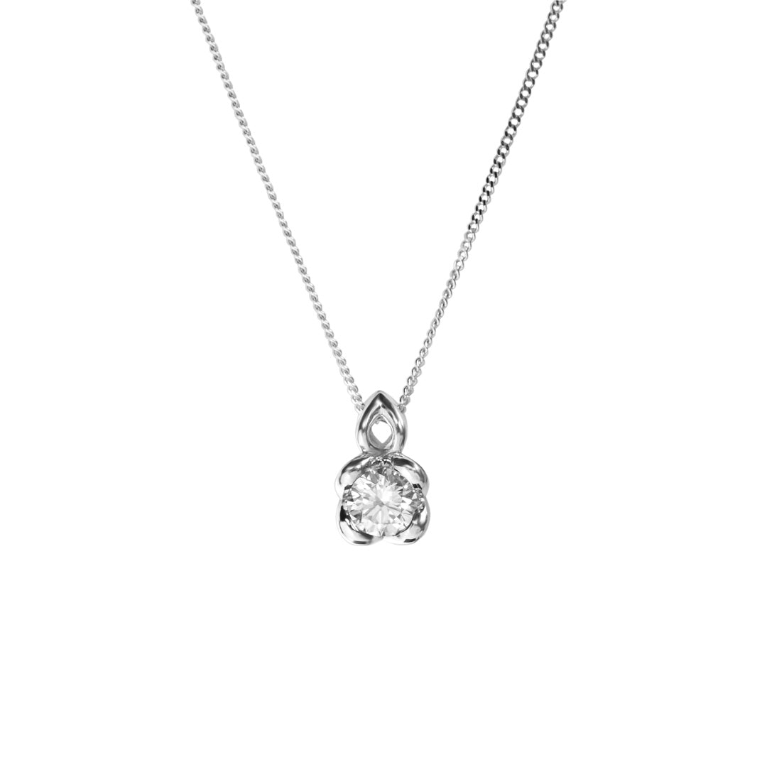 9ct White Gold Lab Grown Diamond Pendant 0.33ct