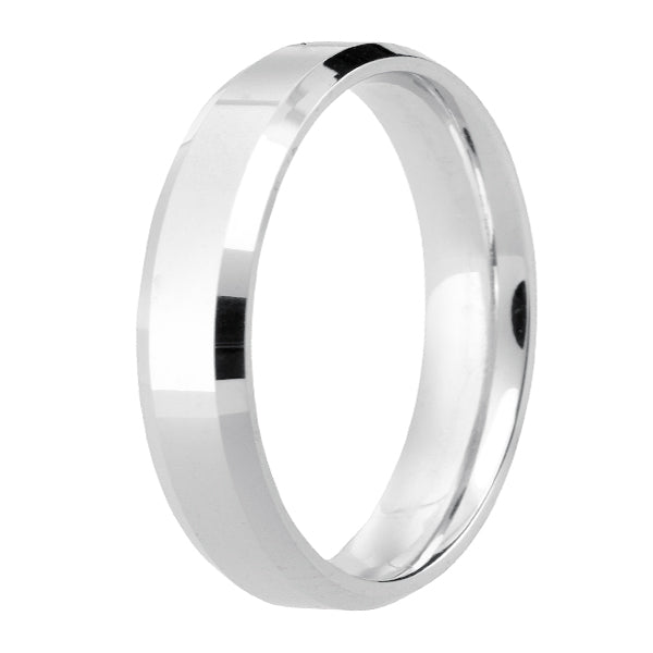 5mm Diamond Cut Mens  Wedding Ring - (Home Try-On)