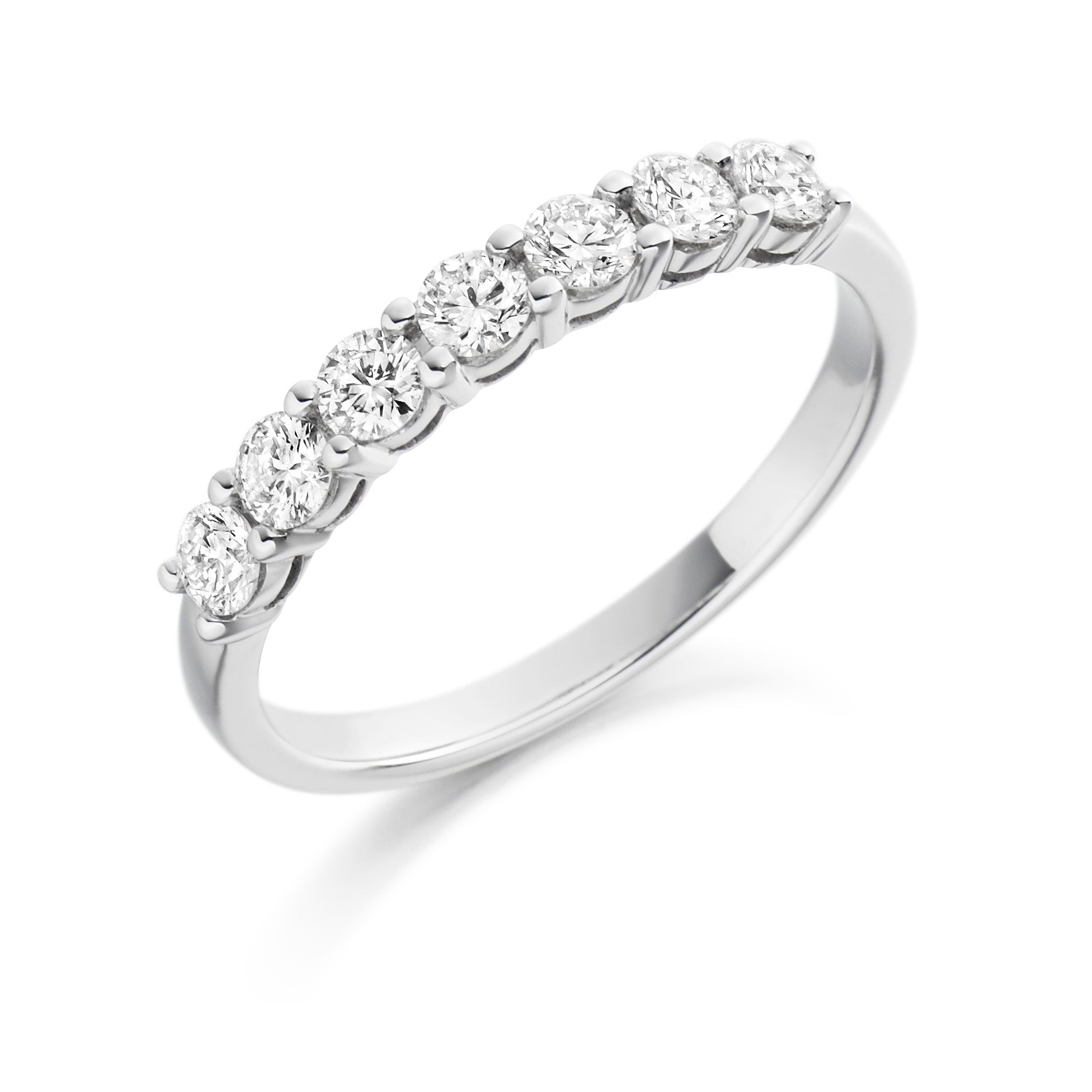 18ct White Gold 0.5ct Round Brilliant Cut Diamond Vintage Eternity Ring
