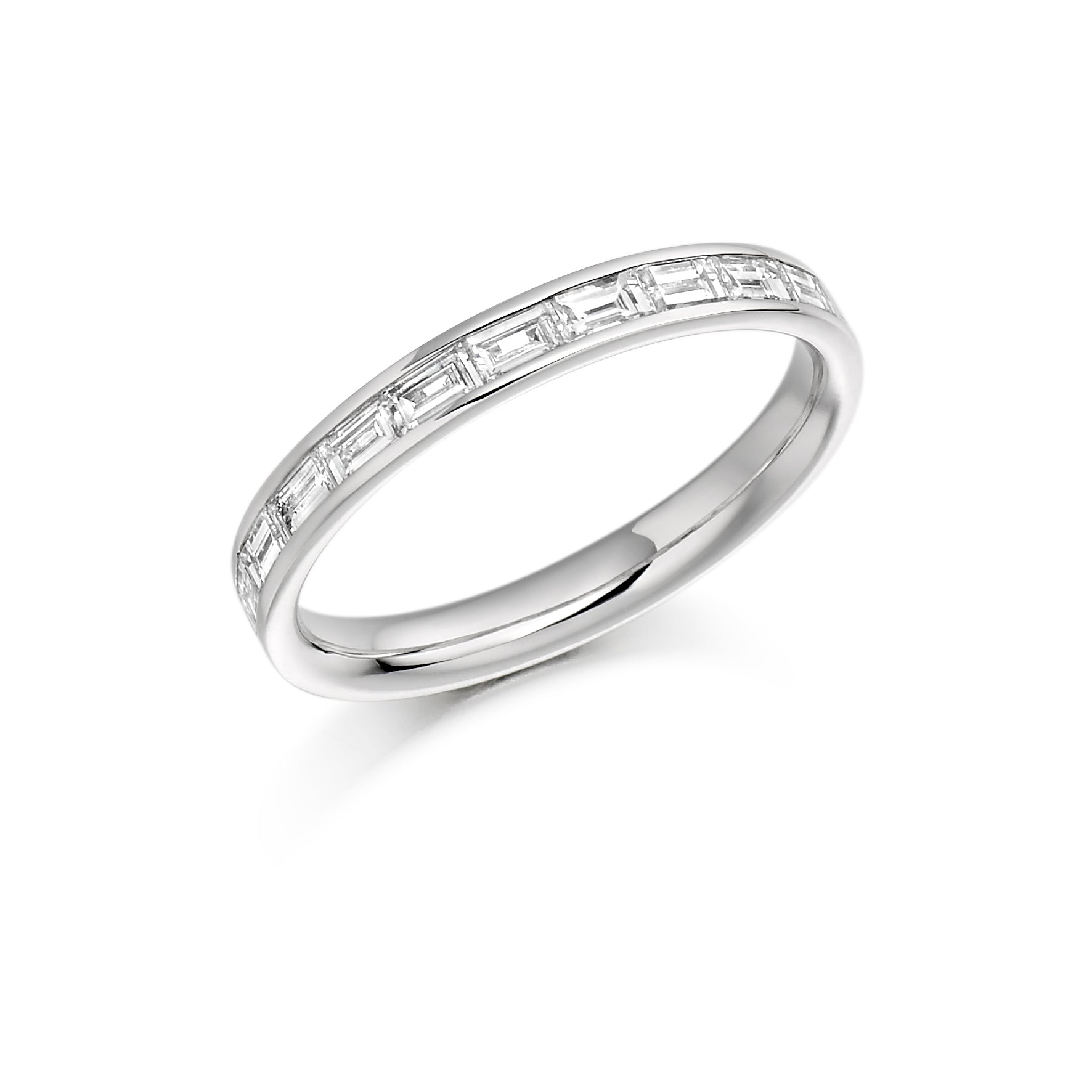 0.50ct Baguette Cut Diamonds Eternity Ring - (Home Try-On)