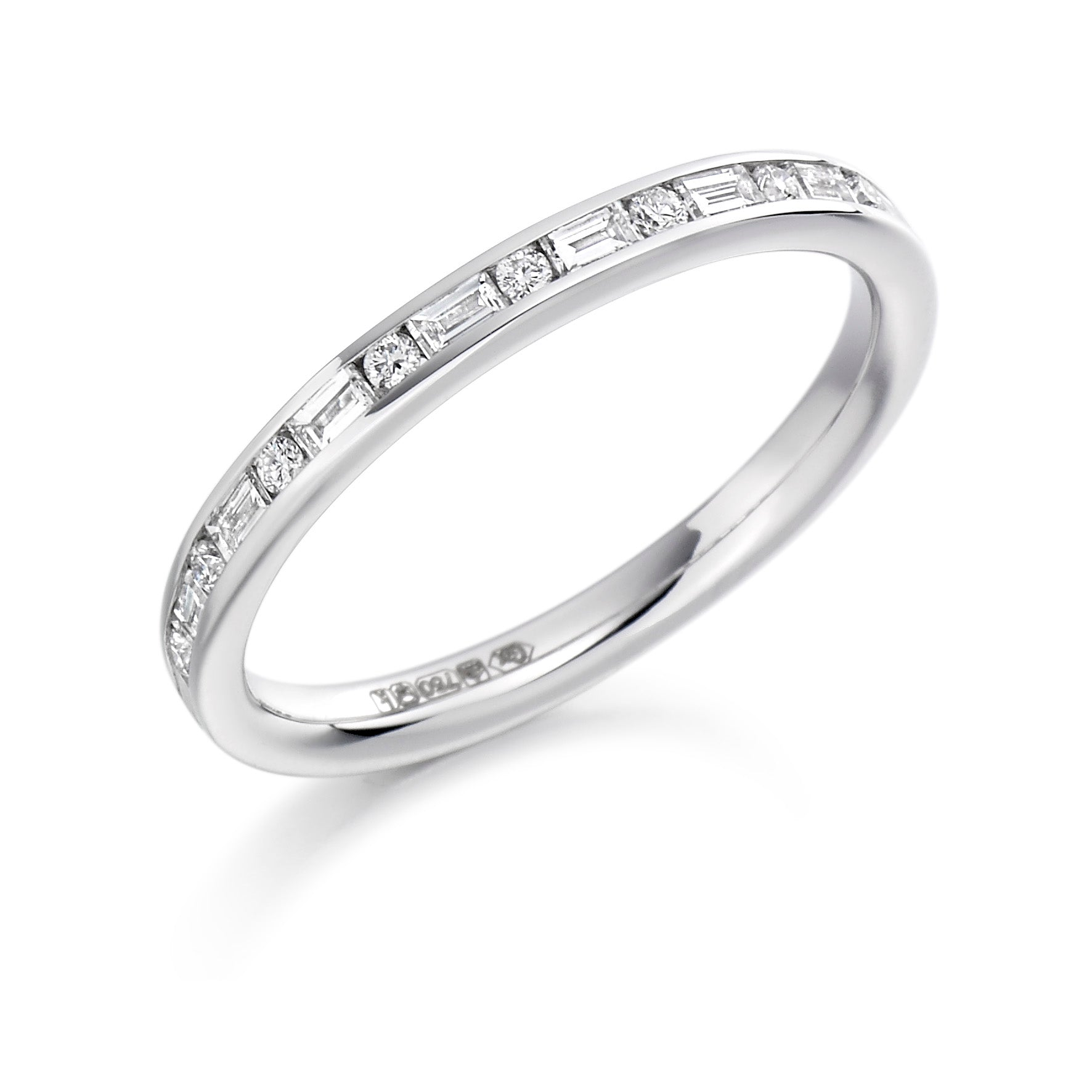0.30ct Round Brilliant Cut and Baguette Cut Diamond Eternity Ring - (Home Try-On)