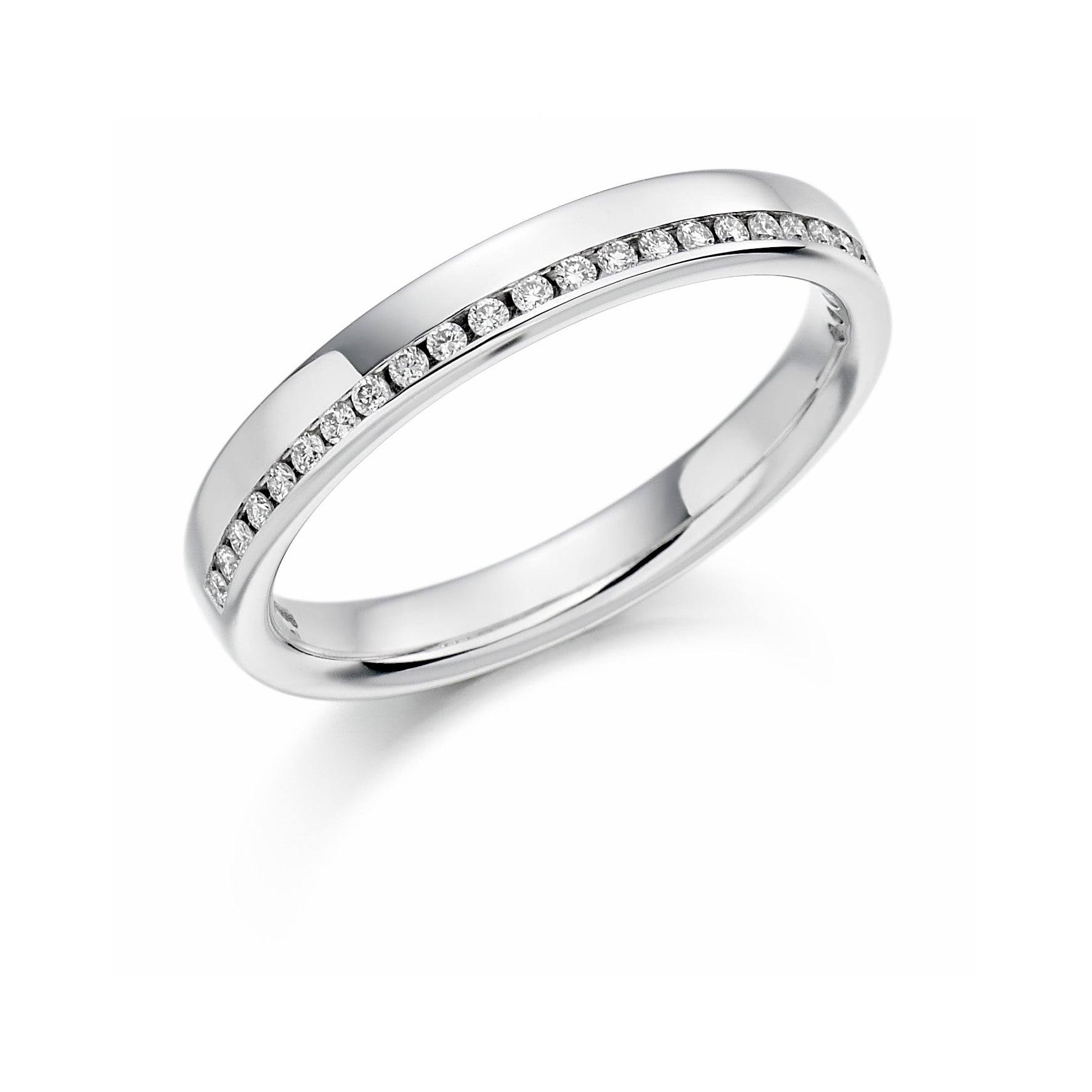 0.12ct Round Brilliant Cut Diamond Offset Eternity Ring - (Home Try-On)