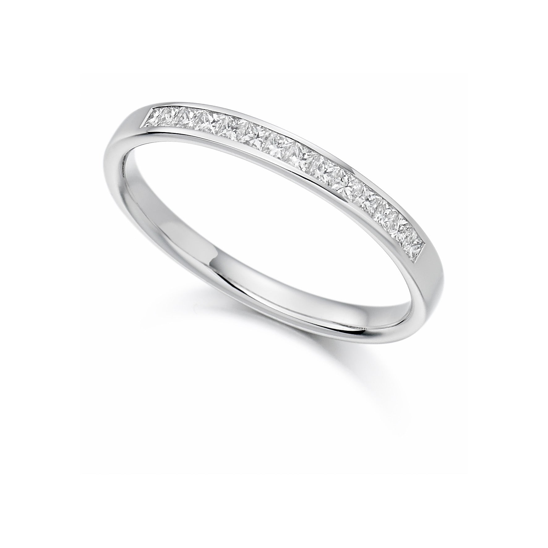 0.20ct Princess Cut Diamond Wedding Ring - (Home Try-On)