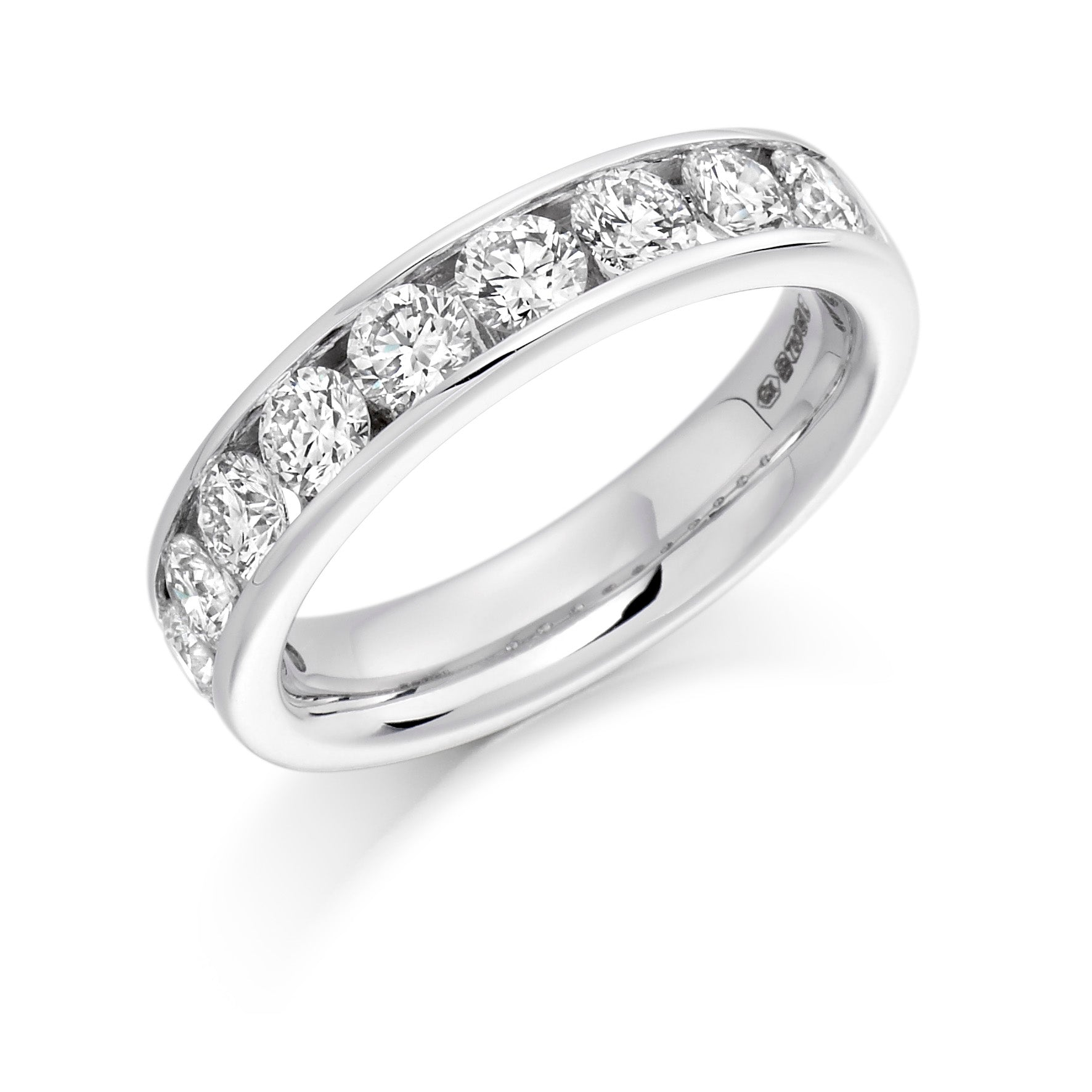 1.5ct Round Brilliant Cut Diamonds Channel Set Wedding Ring - (Home Try-On)