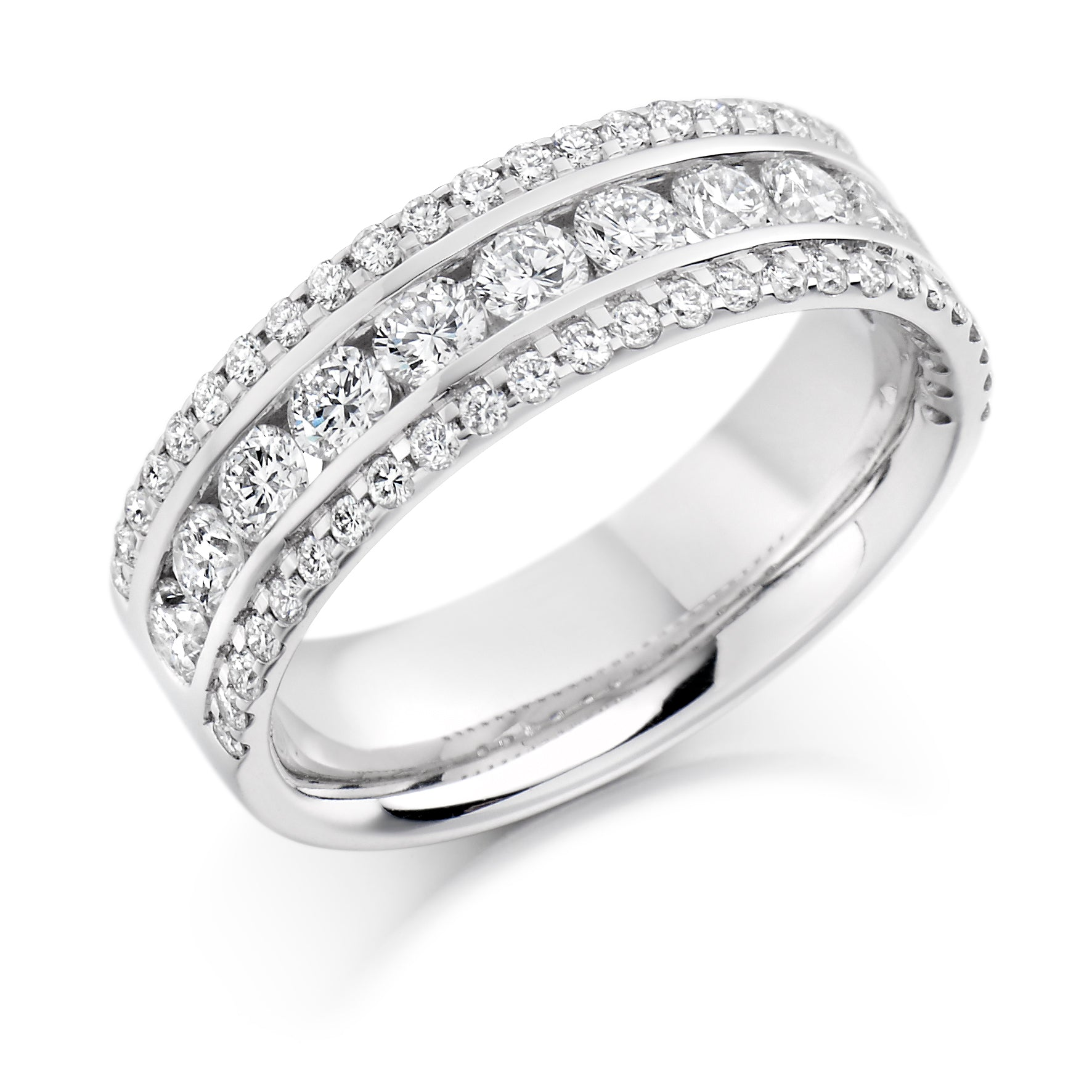 1.35ct Dual Set Round Brilliant Cut Diamond Eternity Ring - (Home Try-On)