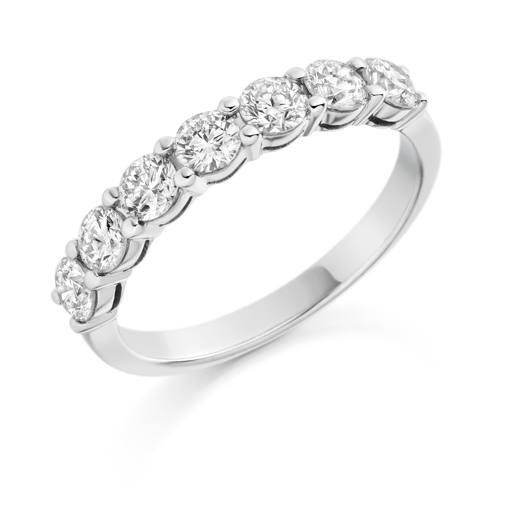1ct Round Brilliant Cut Diamond Eternity Ring - (Home Try-On)