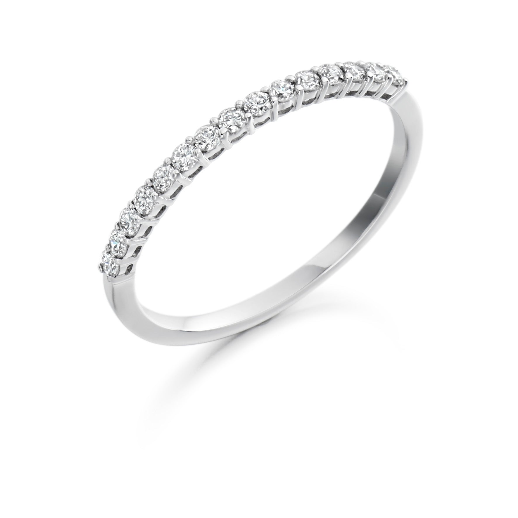18ct White Gold 0.25ct Round Brilliant Cut Diamond Vintage Eternity Ring