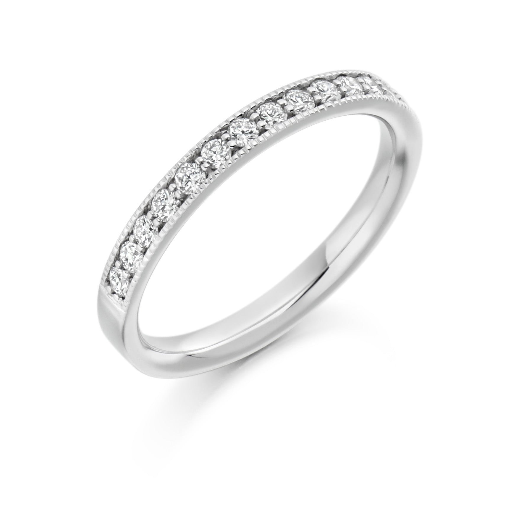 0.33ct Round Brilliant Cut Wedding Ring - (Home Try-On)