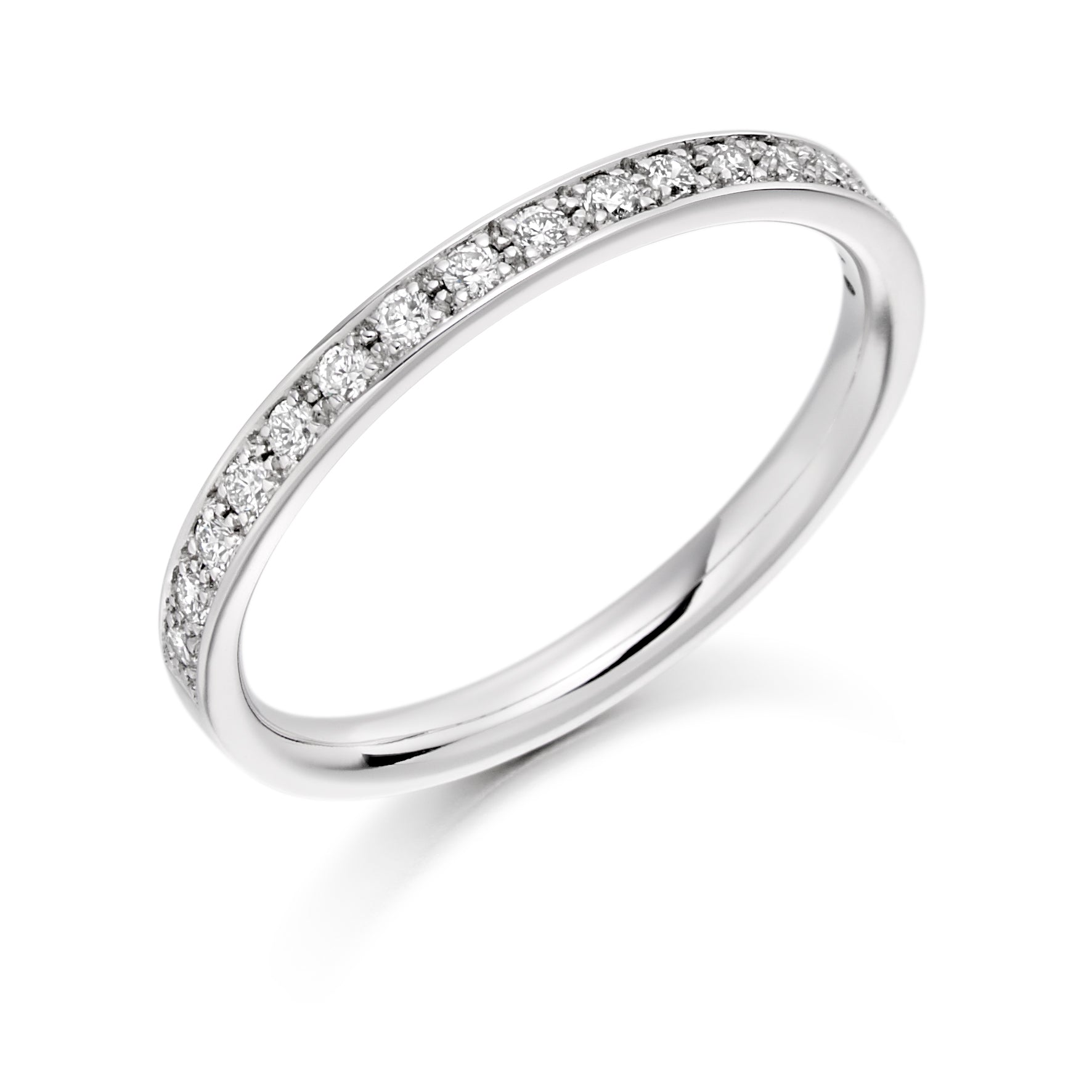 0.25 Round Brilliant Cut Diamond Grain set Wedding Ring - (Home Try-On)