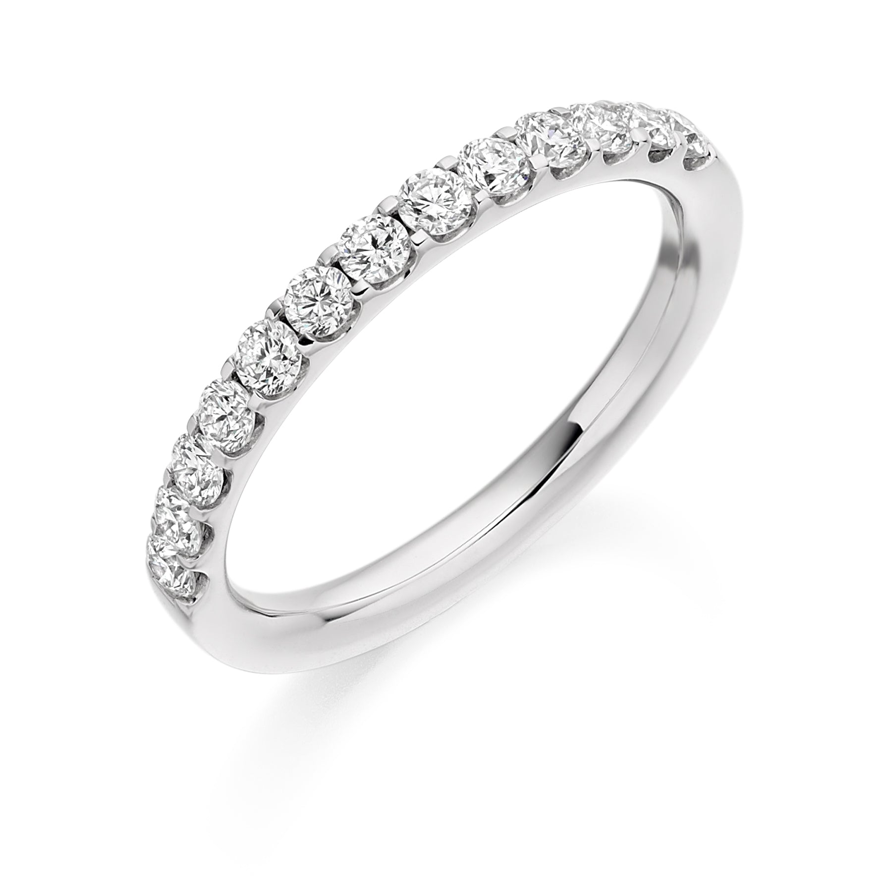 0.50ct Round Brilliant Cut Diamond Wedding Ring - (Home Try-On)