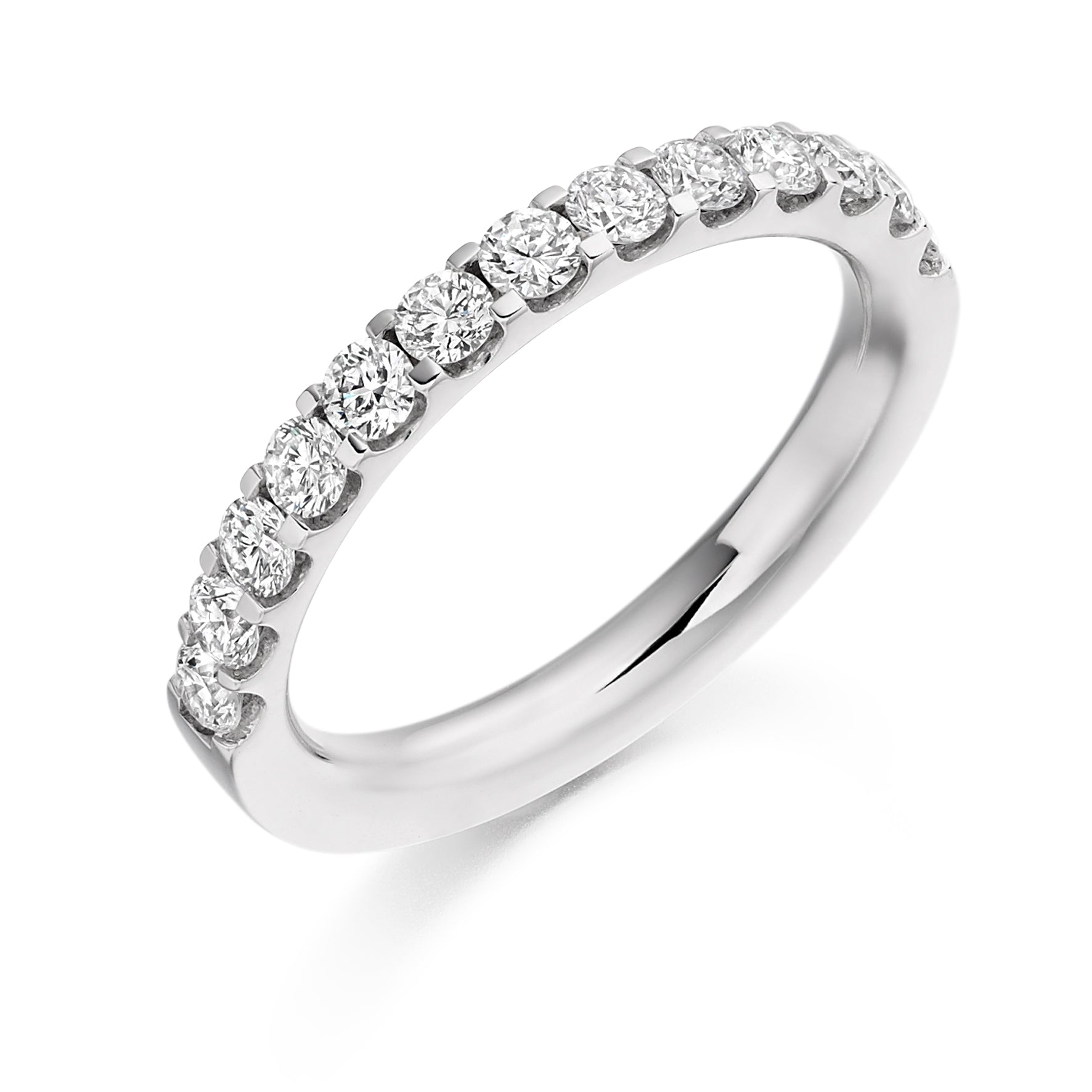 0.75ct Round Brilliant Cut Diamond Wedding Ring - (Home Try-On)
