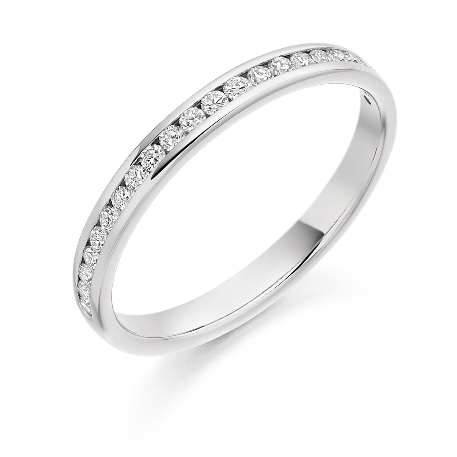 0.25ct Round Brilliant Cut Diamonds Channel Set Wedding Ring - (Home Try-On)
