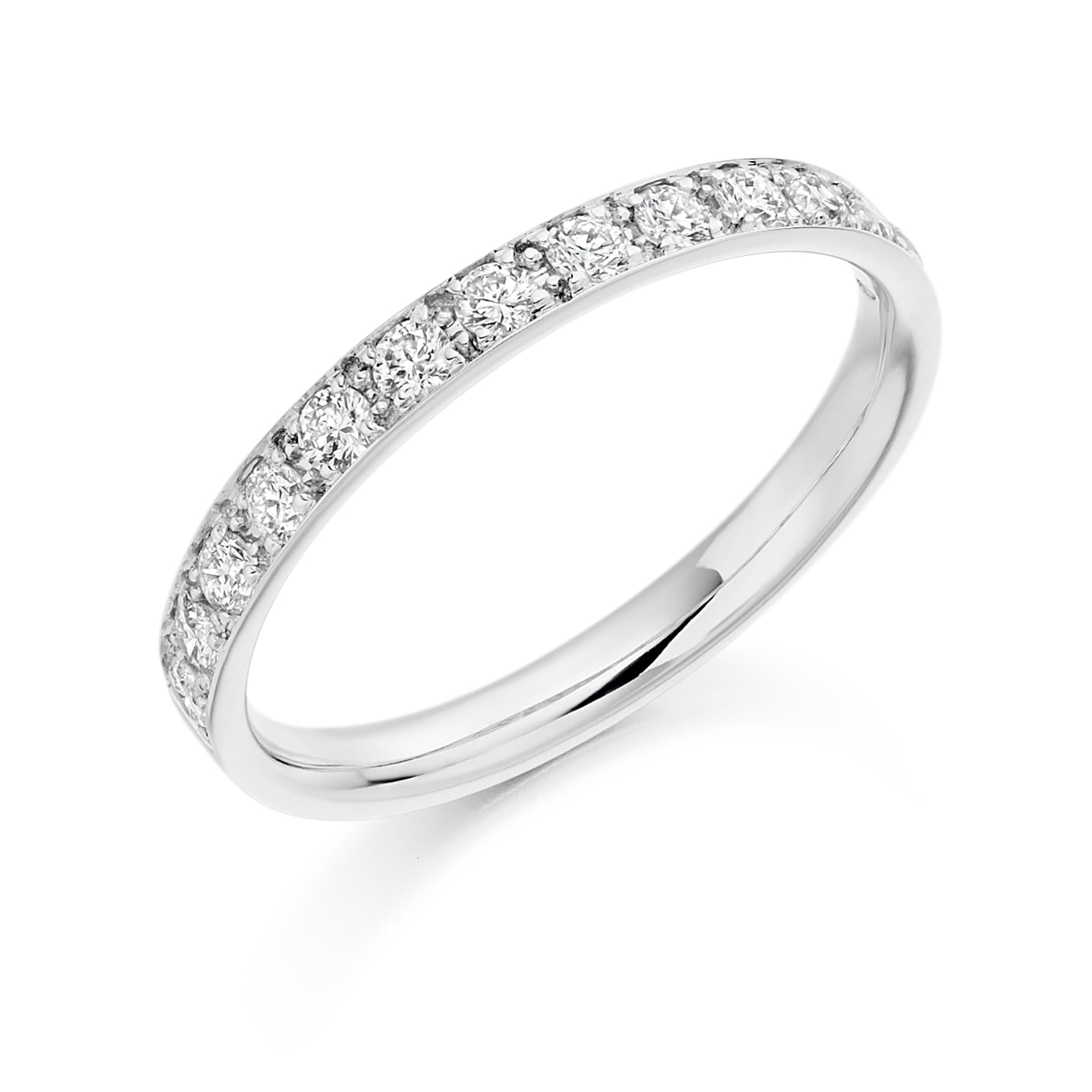 0.40ct Round Brilliant Cut Wedding Ring - (Home Try-On)