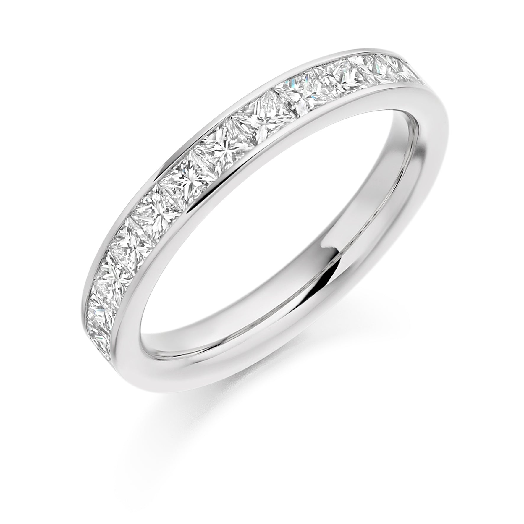 1ct Princess Cut Diamond Eternity Ring - (Home Try-On)