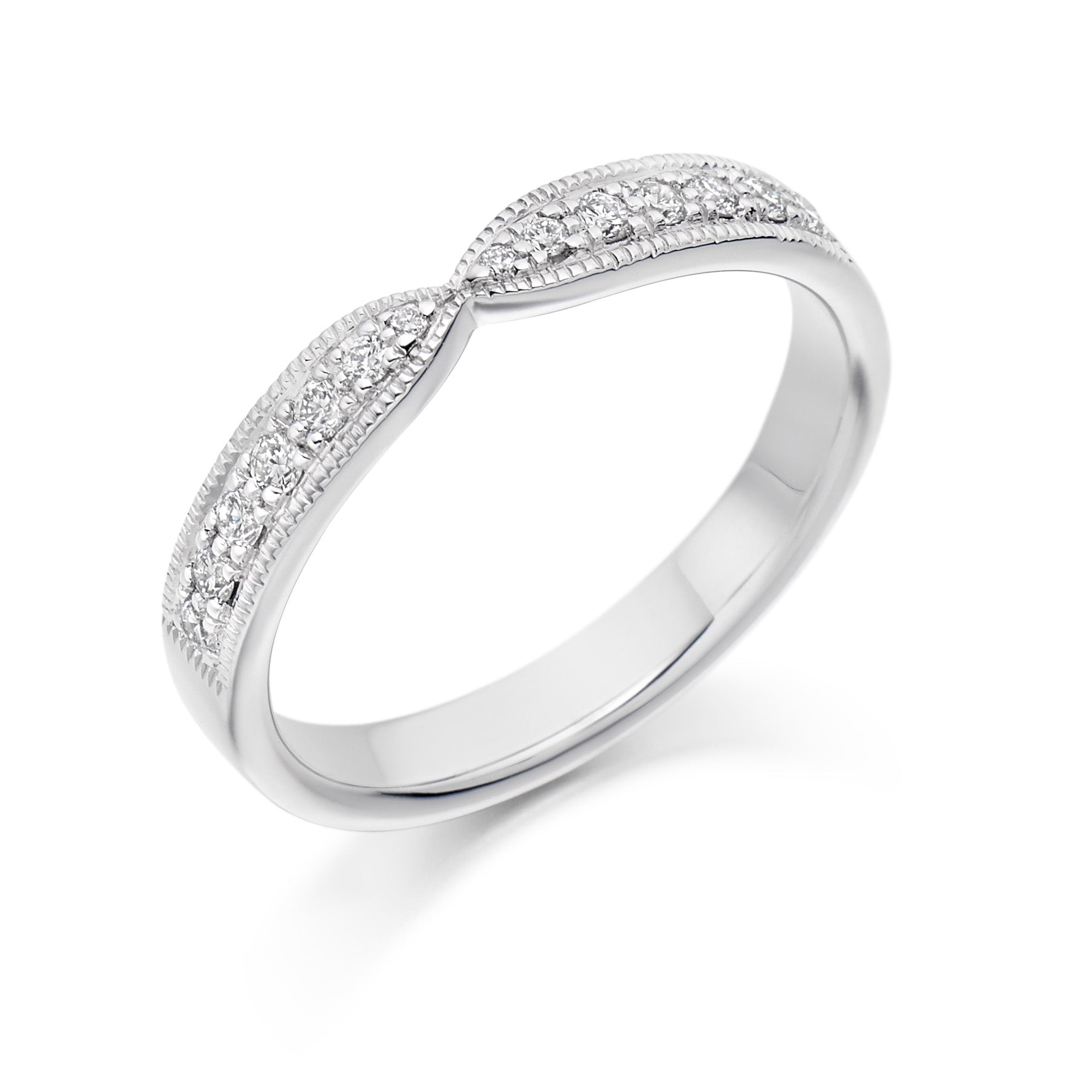 0.20ct Round Brilliant Cut Diamonds in a Grain Setting - Eternity Ring - (Home Try-On)