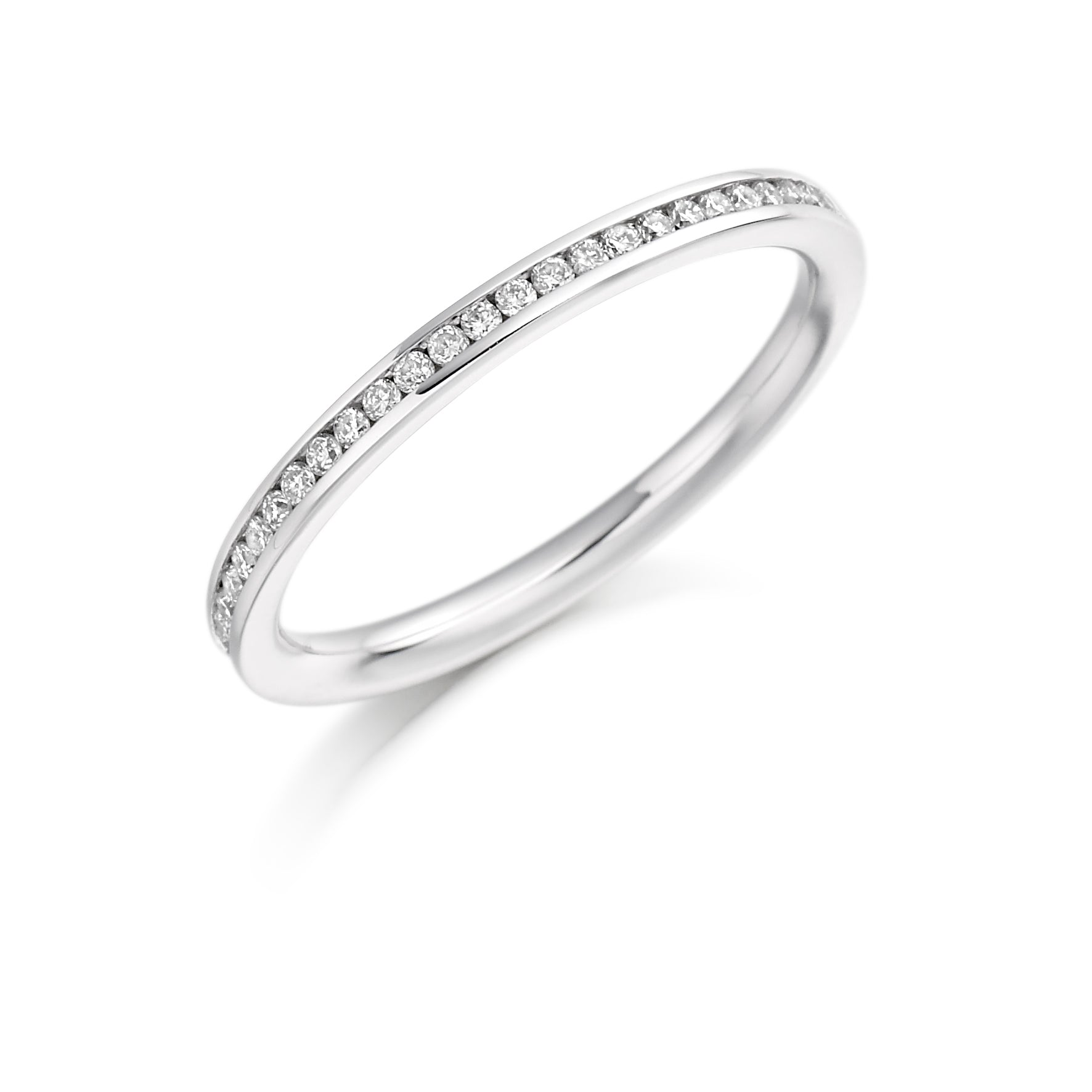 0.20ct Round Brilliant Cut Diamond Channel Set Eternity Ring - (Home Try-On)