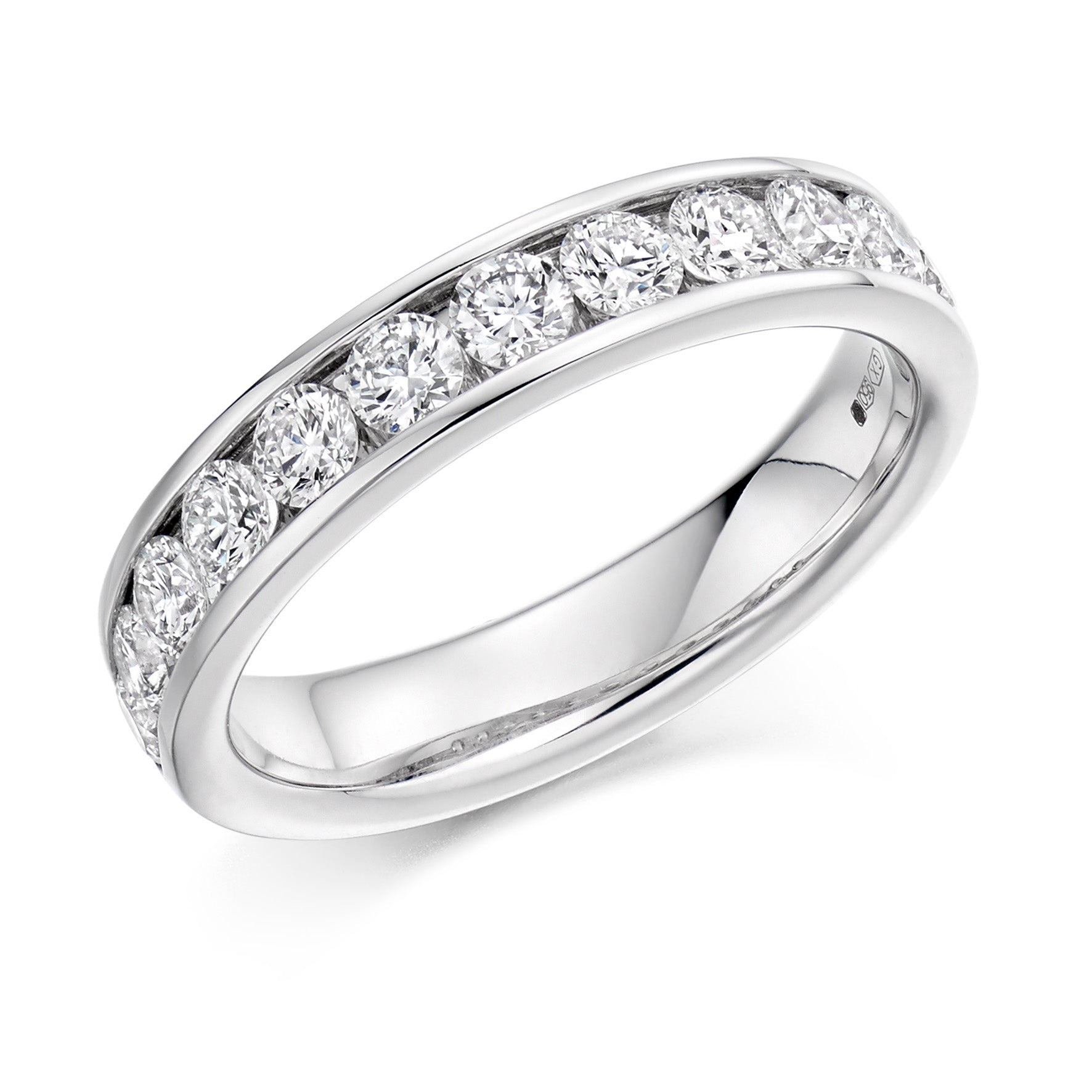 1.00ct Round Brilliant Cut Diamonds Channel Set Eternity Ring - (Home Try-On)