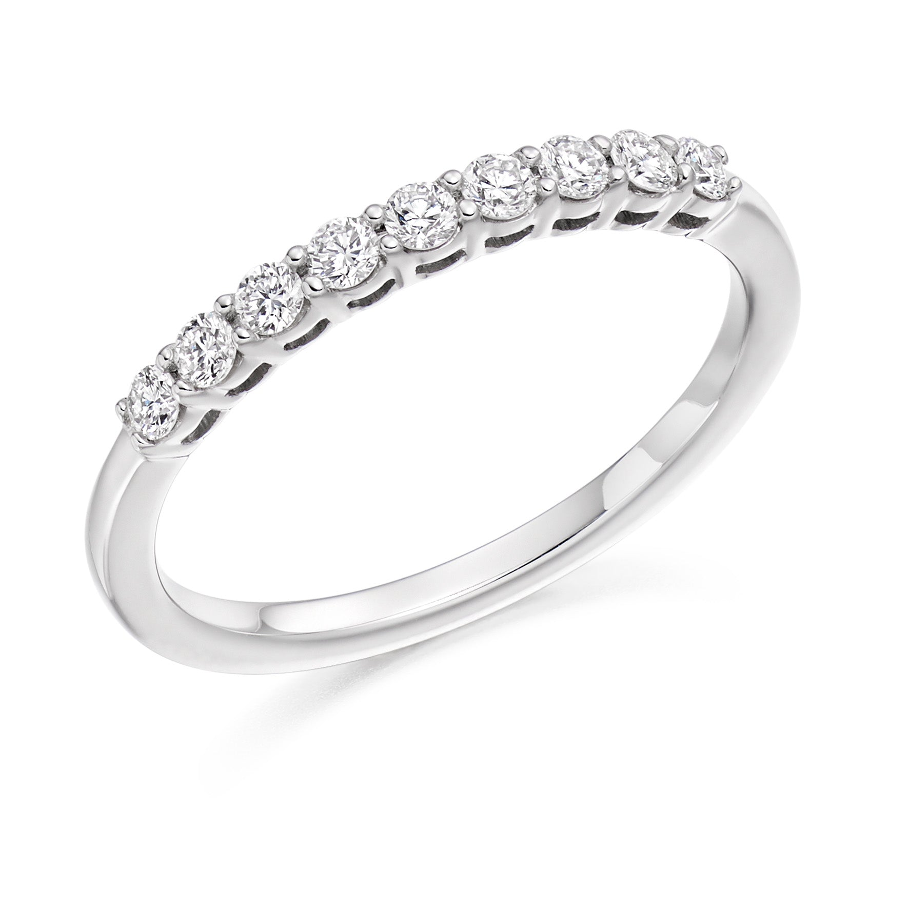 0.33ct Round Brilliant Cut Diamond Wedding Ring - (Home Try-On)